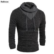 Sweater Pullover Men 2018 Male Brand Casual Slim Sweaters Soild Color Hedging Turtleneck MenS V neck long sleeve