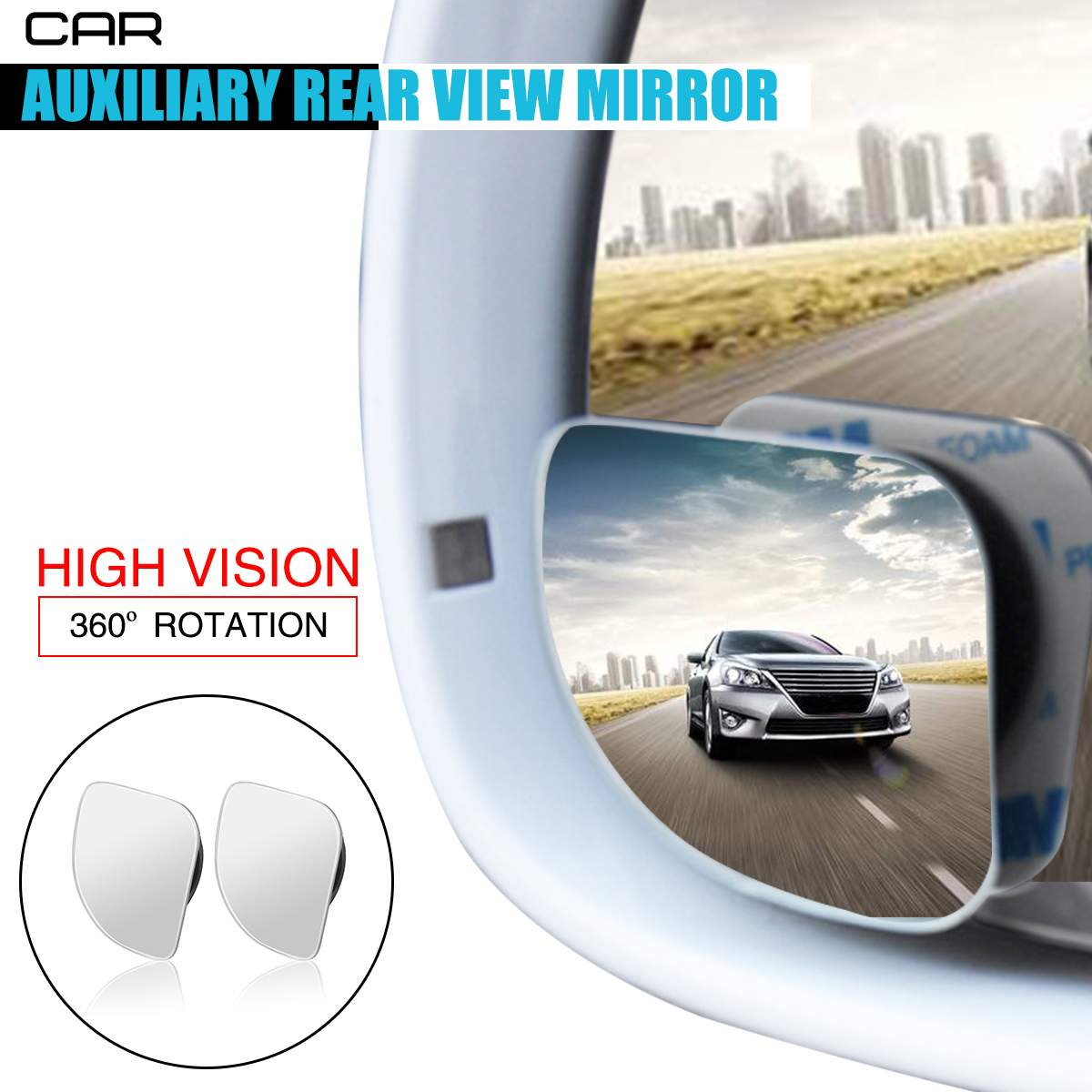 Safety Shatterproof Acrylic 360 Degree Pivots Adjust View Baby Car Mirror for Back Seat Double Shoulder Strap Fixed Not Loose Big Vision to Clear Observe The Babys Every Move VTIN Drivers Baby Car Mirror Easy Install