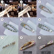 37b90065ffe0a Women s Girls Pearl Hair Clip Gold Hairpin Slide Grips Barrette Hair  Accessories(China)