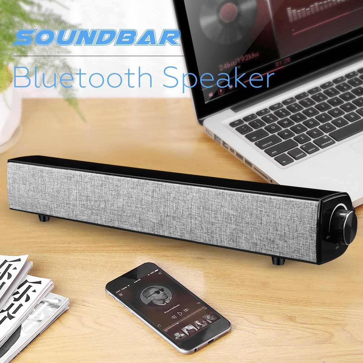 20 W Bluetooth Lautsprecher Soundbar 4000 Mah Drahtlose Bass Stereo Subwoofer Usb Aux 3,5mm Für Home Theatre Smartphone Pc SchüTtelfrost Und Schmerzen