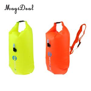 Bolsa ligera de secado inflable de alta visibilidad, bolsa flotante de agua abierta, bolsa de remolque Fluo para natación, accesorios de Triatlón