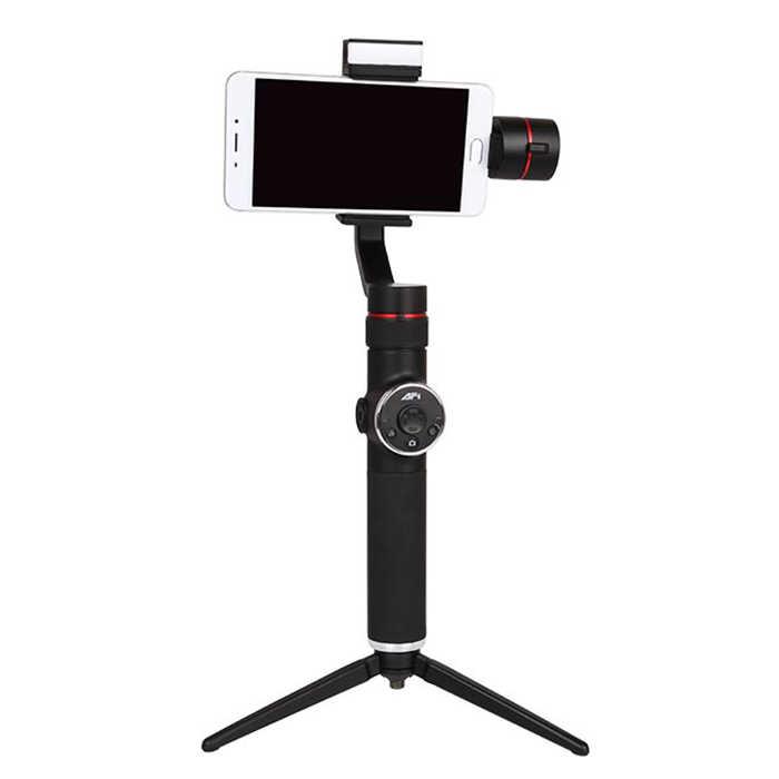 V5 3 ציר כף יד טלסקופי Gimbal LED למלא אור פוקוס מותאם עבור 6 אינץ Smartphone