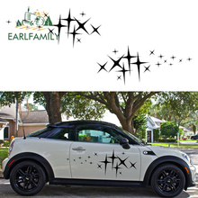 EARLFAMILY 2x Star (one for Each Side) Graphic Camper Van RV Trailer Truck Motor Vinyl Graphics Kit Decals Car Door Stickers цены