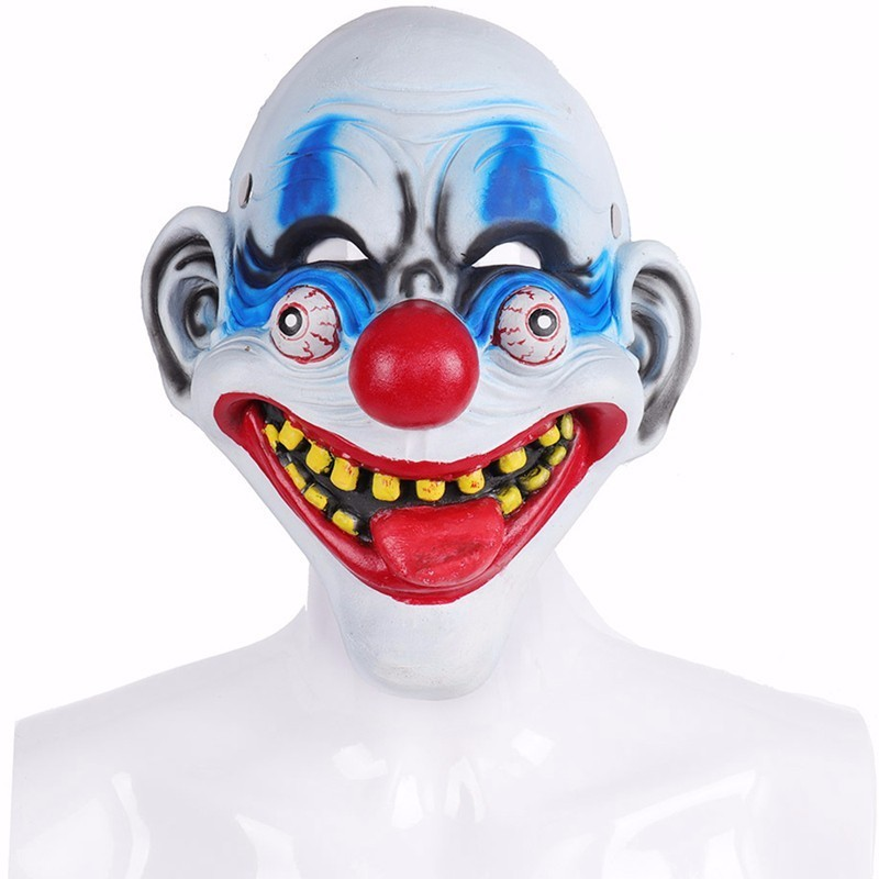 Halloween Masquerade Horror Funny Tongue 3D Pu Foam Clown Mask Carnival Stephen King's Clown Cosplay Costume Props