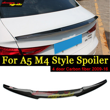 A5 Spoiler Rear wing tail AEM4 Style Carbon fiber For A5Quattro Trunk Wing Lip Tail 2009-16