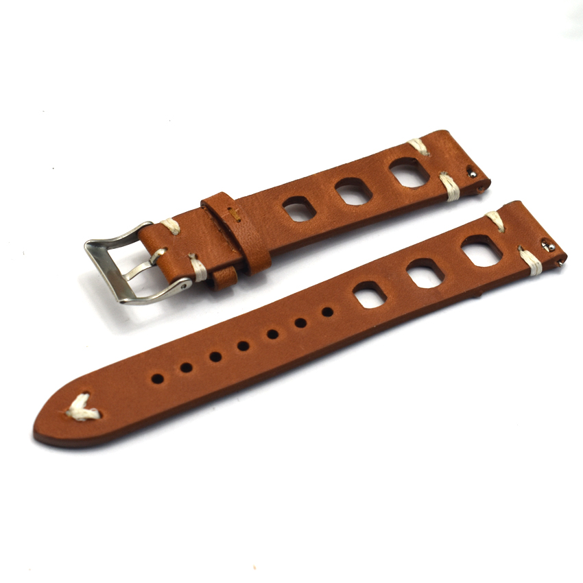 Genuine <font><b>Leather</b></font> Strap Watchband Men's Women <font><b>Watch</b></font> Belts <font><b>Band</b></font> Black Brown Replacement 18 20 <font><b>22</b></font> 24 <font><b>mm</b></font> <font><b>Watches</b></font> Accessories KZ3H06 image