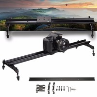 80cm Camera Track Slider Rail Dolly Video Stabilizer System For DSLR Camcorder Aluminum Alloy Double track Anti skid Stable