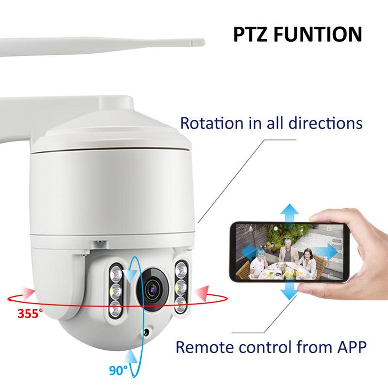 Night-Vision-Camera WIFI Remote Automatic-Tracking Outdoor HD Full-Color Rotating-Day