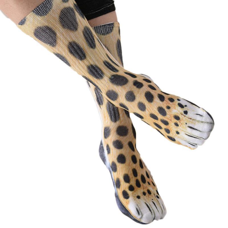 2018 Novelty 3D Stamping Animal Foot Paw Feet Crew   Socks   Adult Digital Simulation   Socks   Unisex Tiger Dog Cat   Sock