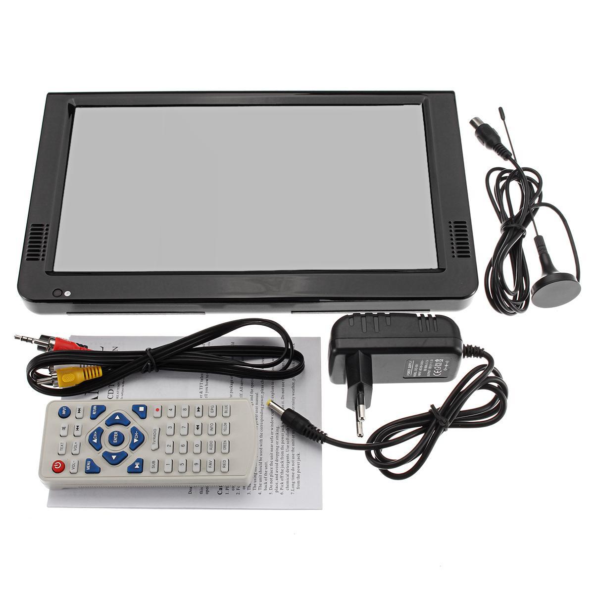 Outdoor 10,2 Inch 12V Tragbare Digital Analog Fernsehen DVB T/DVB T2 TFT LED HD TV Unterstützung TF Karte USB audio Auto Fernsehen - 6