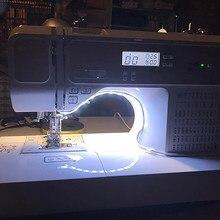 Máquina de costura led luz de tira kit dc 5v flexível usb luz de costura industrial máquina de trabalho luzes led