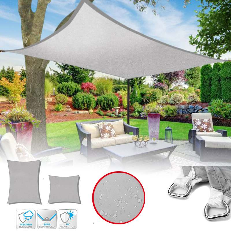 4x4/6/8M Sun Shade Canopies Sails Outdoor Camping Hiking Yard Garden Shelters UV Block Top Cover Waterproof4x4/6/8M Sun Shade Canopies Sails Outdoor Camping Hiking Yard Garden Shelters UV Block Top Cover Waterproof