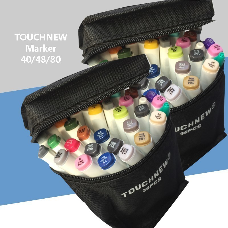 Combination Marker Set Hand-painted pen TOUCHNEW Double-head alcoholic oily students Anime 30/40/60/80 color
