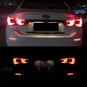 Image 5 - IJDM LED marqueurs de pare chocs, feux pour Infiniti Q50 QX30 QX60 QX56 QX80, Nissan frein à LED feux avec clignotant séquentiel