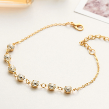 Elegant Luxury Crystal Rhinestone Anklet Bracelet Fashion Gold Sliver Plated Anklet Charms Jewelry Birthday Gifts For Women