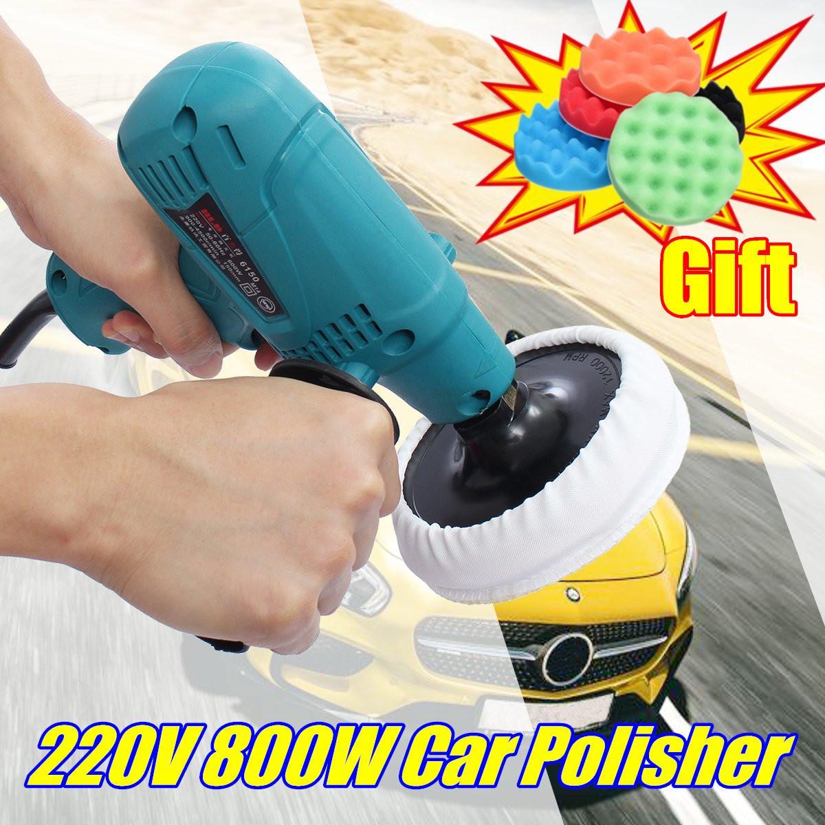 220 В 800 Вт автомобиль полировщик автомобилей мебель электрический автомобиль Лодка полировки воском машина регулируемой скоростью с 5 шт. по...
