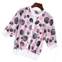 Натуральная 100% шелк в горошек для женщин рубашка блузка Новый бренд взлетно посадочной полосы 2018 весенние модные топы