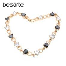 Женские браслеты из обсидиана в форме сердца женский браслет
