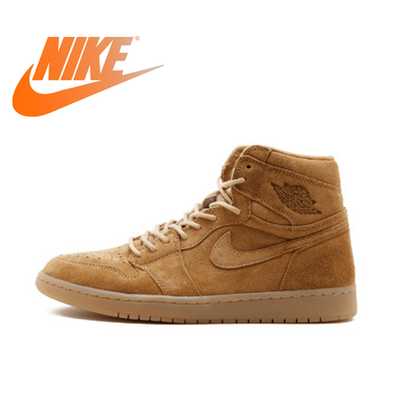 half off 4ee61 bc18a US $235.42 21% OFF|Official Original Nike Air Jordan 1 Retro High OG AJ1  Men's Basketball Shoes Professional Outdoor Sports Medium Cut 555088 710-in  ...