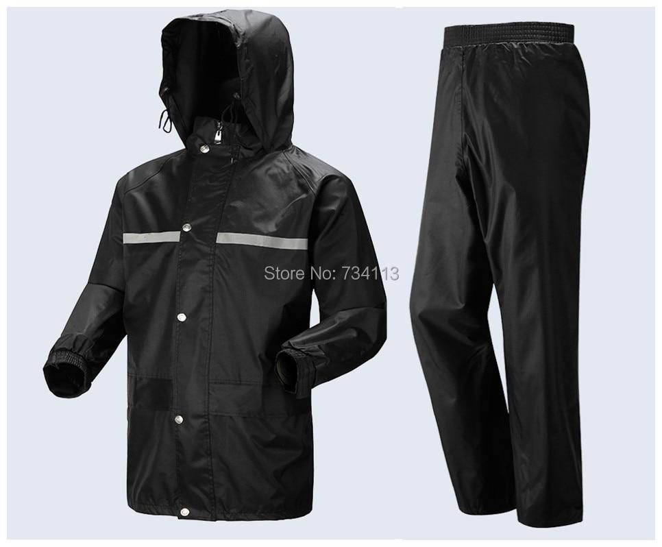 a57d1963f48 Raincoat large size Motorcycle bicycle rain suit men and women rain Wear  Loose rainponcho fishing camping