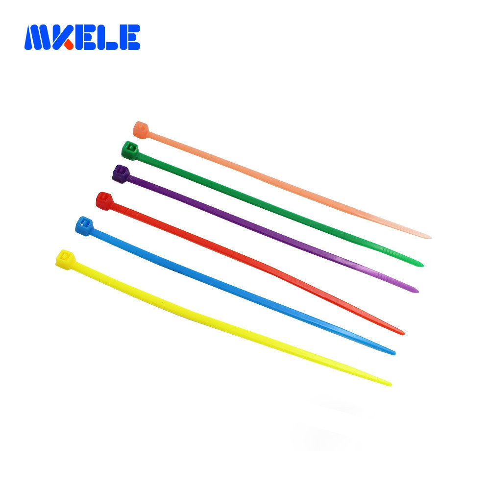 Nylon Cable Ties Self locking 6 Colors Plastic Box 3 100mm Colorful Cable Wire Tie Plastic Zip Ties From Makerele Free shipping in Cable Ties from Home Improvement