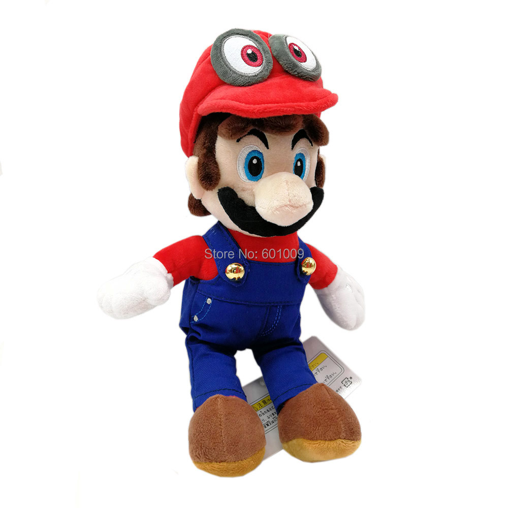 Free Shipping EMS 50 Lot Super Bros Mario With Odyssey Hat Plush Dolls 20CM For Children