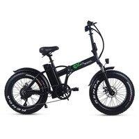48v 15ah Lithium Battery 20 Fat Tyre Electric Bike 500w Foldable Electric Fat Bike Disc Brake Fat Ebike