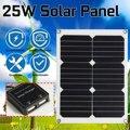 25 Вт Двойной выход USB солнечная панель солнечные батареи поли солнечная панель портативные солнечные батареи для наружных аккумуляторов За...