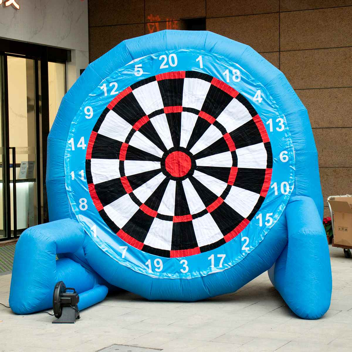 3 Meter 9.8ft High Giant Inflatable Football Dart Board Soccer Bouncer Outdoor Sport Games Inflatable Dart Board With Air Blower3 Meter 9.8ft High Giant Inflatable Football Dart Board Soccer Bouncer Outdoor Sport Games Inflatable Dart Board With Air Blower