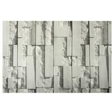 Açık gri 3D duvar çıkartmaları tuğla desen dokulu dokuma olmayan duvar kağıdı Sticker TV arka plan odası ev yatak odası dekoru 0.53*10m