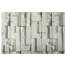 Light Gray 3D Wall Stickers Brick Pattern Textured Non woven Wallpaper Sticker TV Background Room Home Bedroom Decor  0.53*10m