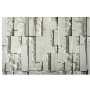 Image 1 - Light Gray 3D Wall Stickers Brick Pattern Textured Non woven Wallpaper Sticker TV Background Room Home Bedroom Decor  0.53*10m