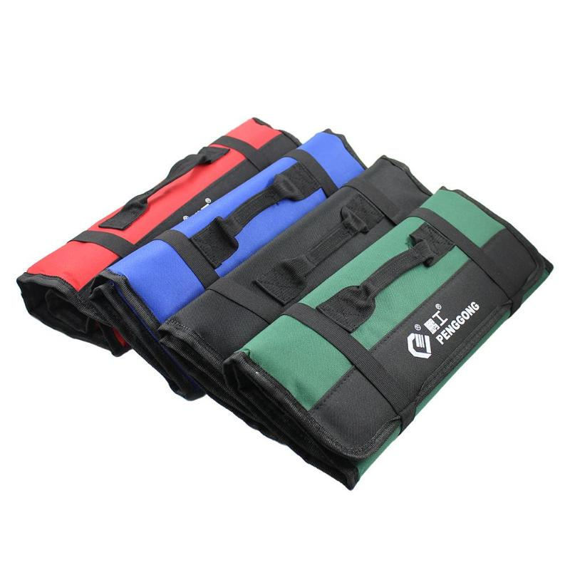 Multifunction Roll Tool Bags Practical Carrying Handles Oxford Canvas Chisel Bag Roll Bags For Tool 4 Colors New Instrument Case