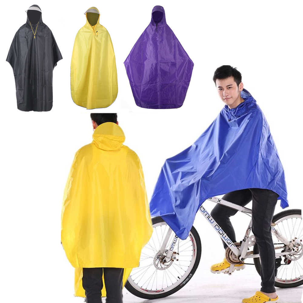 Emergency Cycling Poncho Waterproof Bicycle Outdoor Raincoat with Hooded