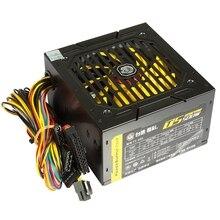 140-260 в Max 500 Вт Питание центральный процессор для ПК 12 В 20 + 4Pin 120 мм бесшумный вентилятор Pcie-E Sata адаптеры питания для Intel Amd компьютер U