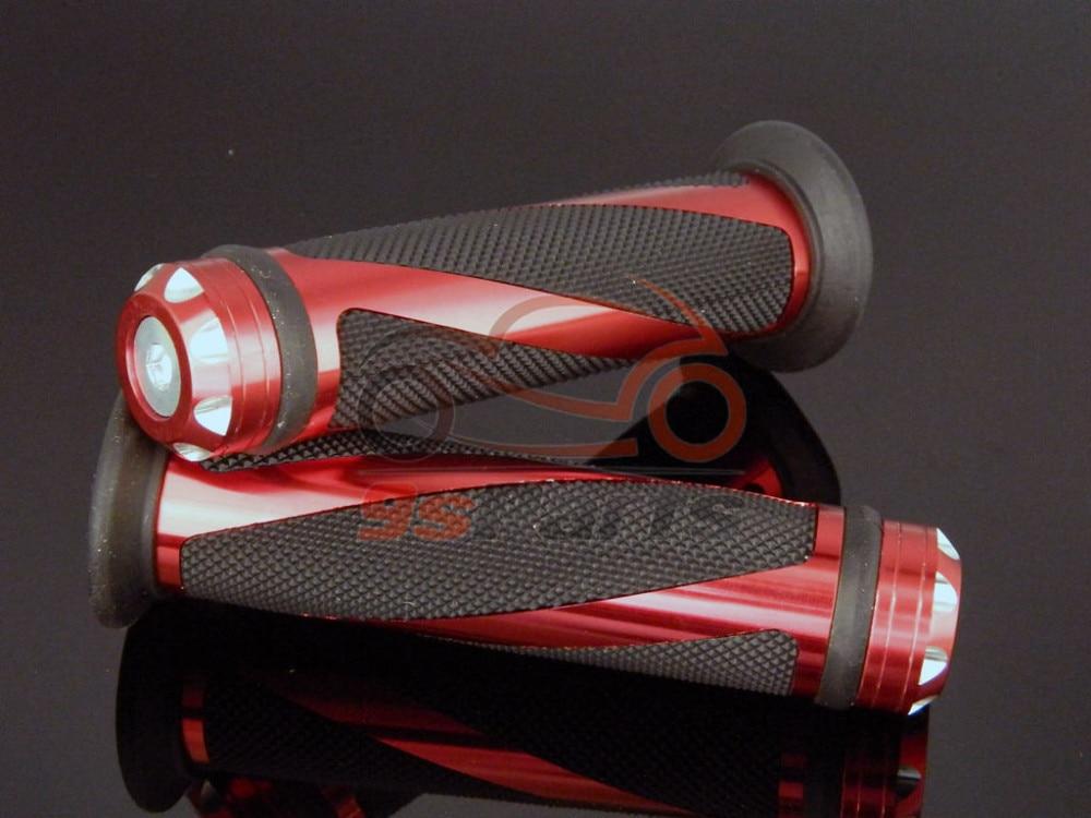 """22 мм мотоцикл Кроссовый красный грязный мотоцикл алюминиевый 7/"""" Гель для руля прорезиненные ручки для Honda Yamaha Suzuki Kawasaki"""