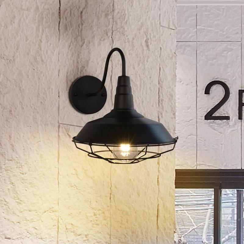 Industrie fer vent applique murale originalité personnalité Bar comptoir Café système continu couvercle oui réseau applique