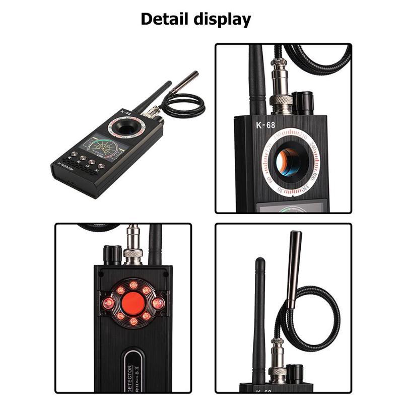 K68 détecteur de Signal sans fil détecteur de bogue RF Anti caméra candide GPS Tracker détecteur de caméra détecteur de chambre d'hôtel de haute qualité