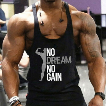 2019 New Brand arrival Men Gym Muscle Bodybuilding Sleeveless Shirt Hot Sale Tank Top Singlet Fitness Sport Print Vest Black 1