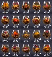 20 pcs Handmade Blooming Flower Tea Balls Art Herbal Tea Wedding Gift 20 Kinds
