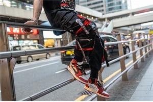 Image 5 - 2019 Dropshipping Big Pocket Ribbon Workwear Pants Brand Design Harajuku Harem Pants High Quality Cargo Tactical Pants