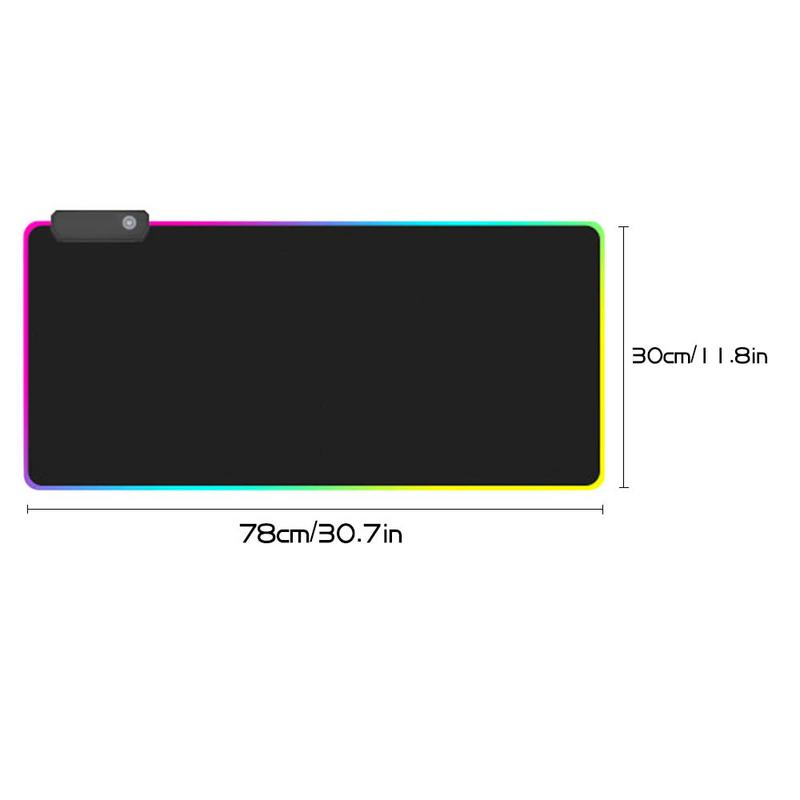 Luminous Gaming Mouse Pad Oversized Glowing Usb Led
