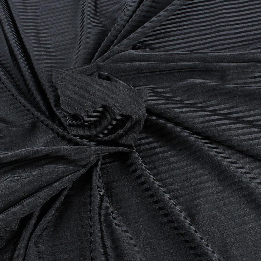 Black Silk Lingerie Panty in Black Iridescent Silk Chiffon with Black Stretch Lace Trim