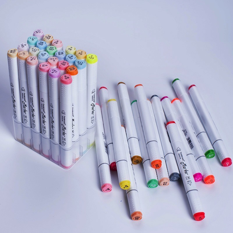 Image 5 - CHENYU 168Colors Art Markers Alcohol Based Pen Dual Head Sketch Markers Brush Pen For Drawing Manga Design Overseas Warehouse-in Art Markers from Office & School Supplies