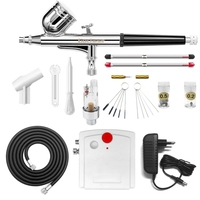Gocheer Mini Dual Action Airbrush Compressor Set For Nails Kit Modeller Spray Airbrush Tool Cake Decoration