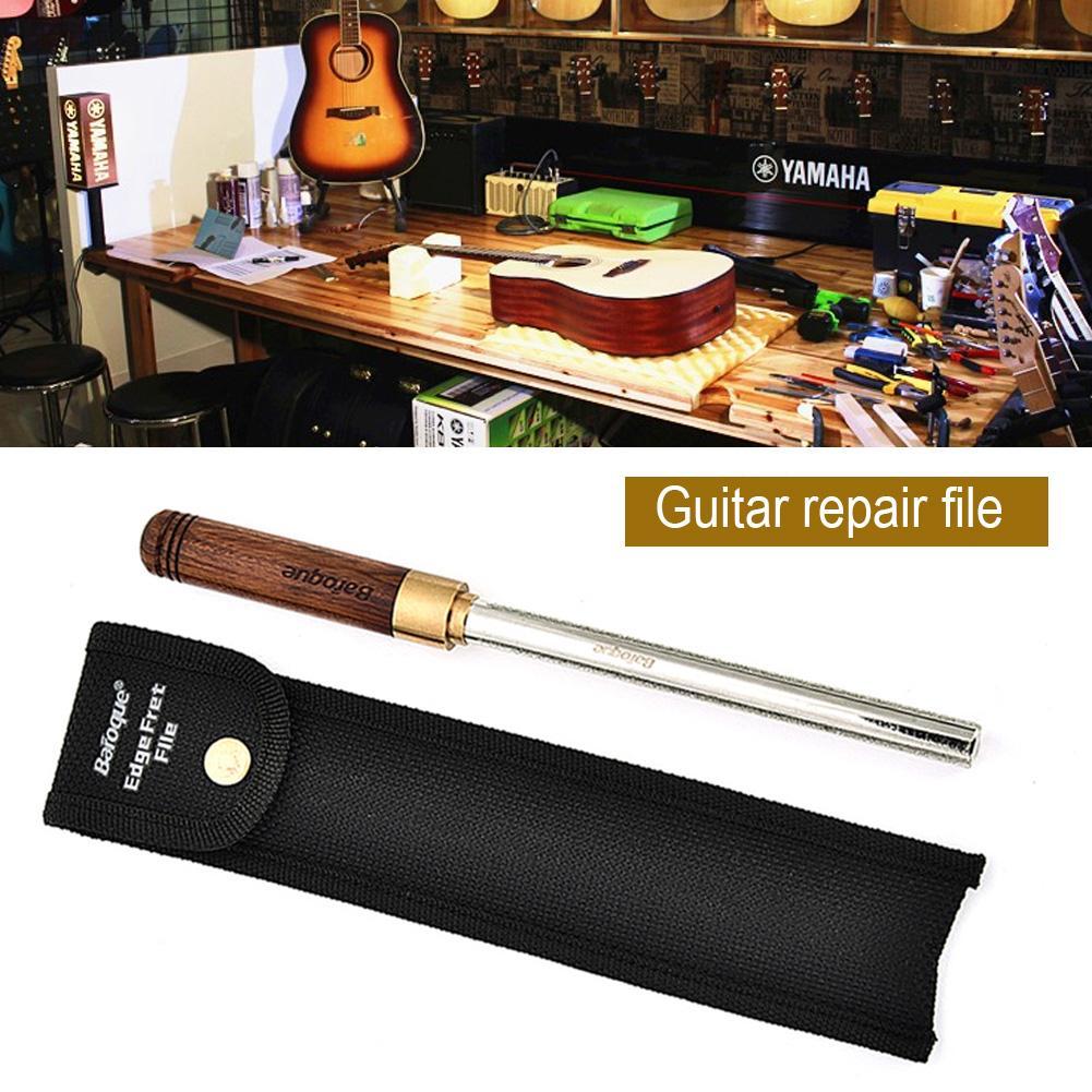 Diamant guitare Fret couronnement Dressing fichier étroit/moyen/large 3 bords guitare réparation & Luthier outils