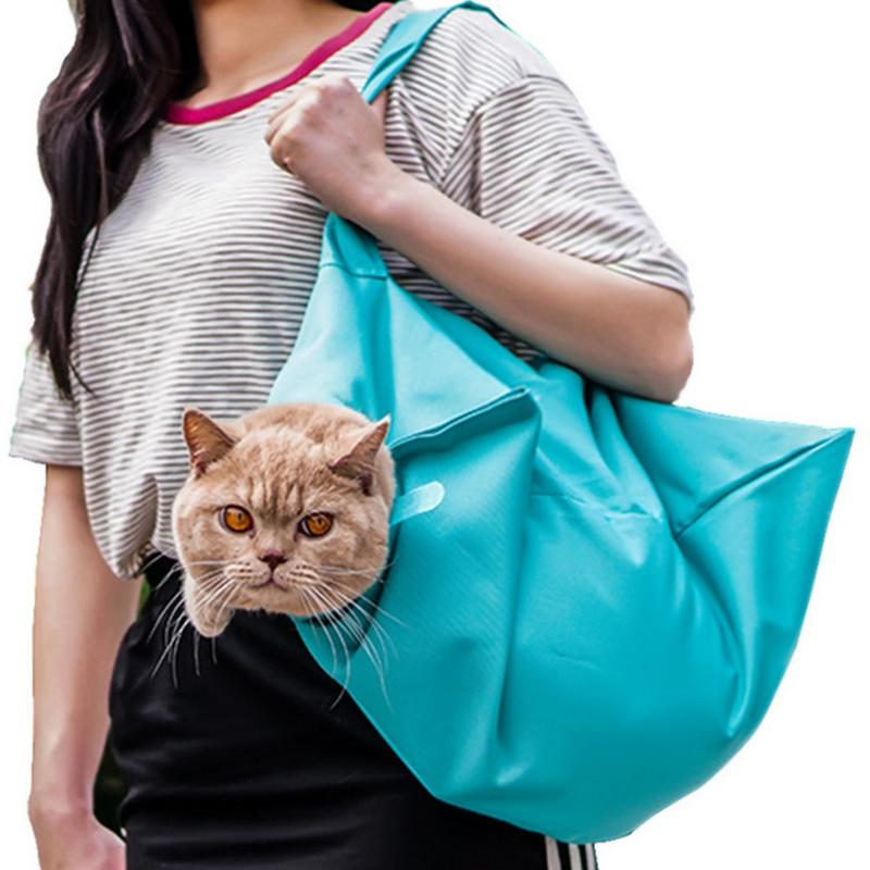 Pet Backpack Cage Cat Dog Outing Bag Multi functional Outing Backpack Pet Outdoor Travel Bag Nail