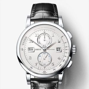 Image 5 - LOBINNI גברים שעון שוויץ יוקרה מותג אוטומטי מכאני גברים של Wirstwatches ספיר עור Tracymeter relogio L16001 3