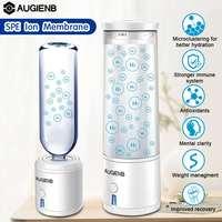 AUGIENB SPE/PEM membrana rica en hidrógeno botella de agua de electrólisis ionizador generador recargable USB eliminación O3 CL2 ionizador de agua