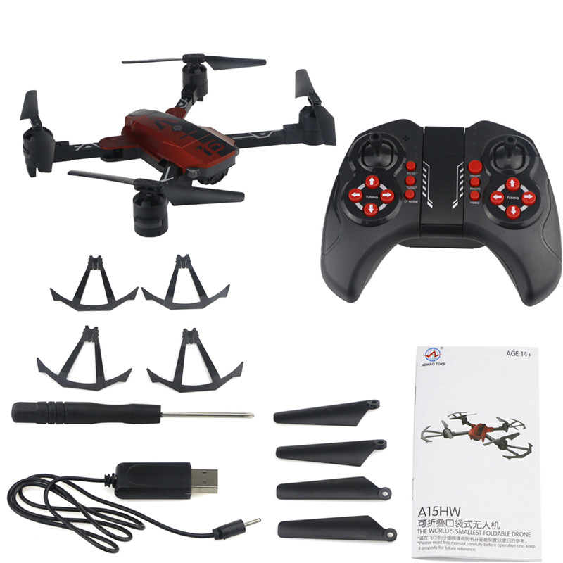 NEWAO TOYS A15HW Drone with Camera 720P Wide Angle Wifi